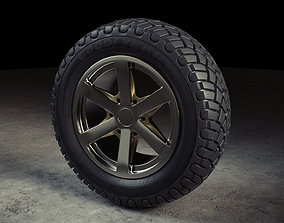 3D asset Wheel Off Road Model