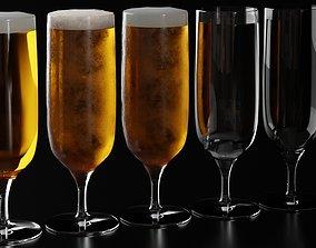 3D Beer Glass 4