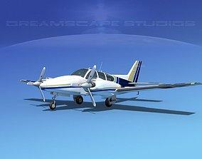 Beechcraft B55 Baron V11 3D