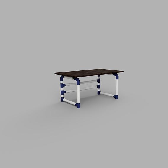 desktop table pipe