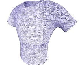 realtime T-shirt 002 Lowpoly 3D model Vray Ready Game 4