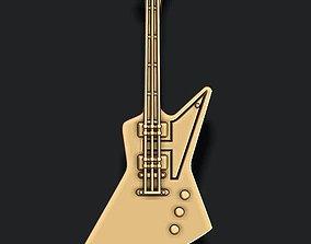 3D printable model electric guitar pendant