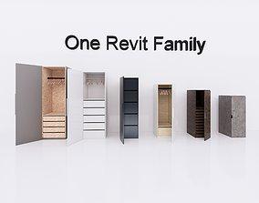 Cupboard 2 - Revit Family Full Parametric 3D model
