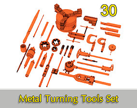 3D model Metal Turning Tools Set 30