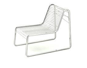 Contemporary Steel Deckchair 3D model