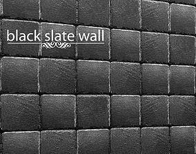 Stone slate black 3D 37