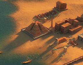 Egypt city-modular prop 3D model game-ready