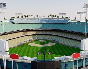 3D model Dodger Stadium - Los Angeles