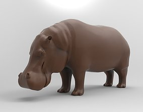 3D printable model hippopotamus