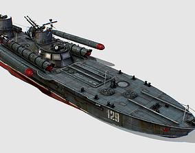 USSR torpedo boat project 123 BIS Komsomolets 3D model
