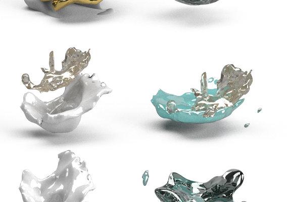 FLUID Delicate vortex 3D model