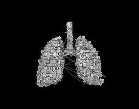 Human Lungs shaped Spaceship 3D asset