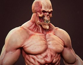 3D model Monster bust 01 ZBrush