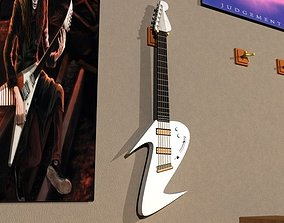3D asset realtime melody electric guitar