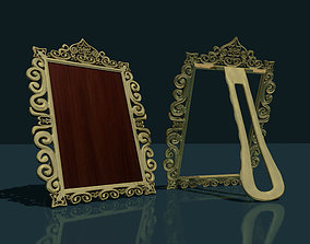 3D asset Picture frame carved low-poly