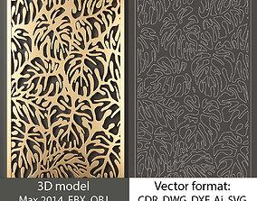 decorative panel 73 3d model and vector format 3D model