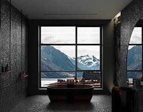 3D asset realtime Realistic bathroom