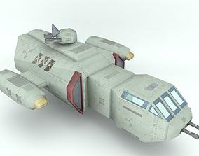 3D asset Deep space freighter