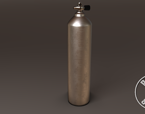3D model Diving Cylinder Oxygen Container