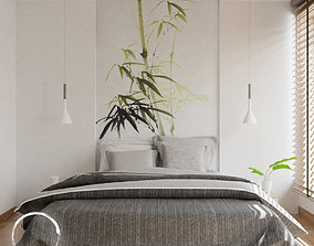 3D model Bedroom With TV Unit- Leptos