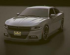 3D asset Low-poly Sports car 3