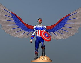 Captain America Sam Wilson - DisneyPlus 3D print model