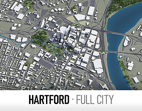 Hartford - city and surroundings 3D model
