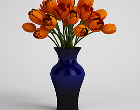 3D CGAxis flower potted