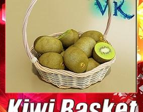 3D model Kiwi Fruit in Basket