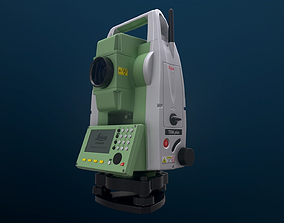 PBR Leica TS06 plus R1000 Total Station 3D model