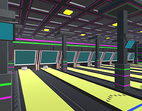 Low Poly Bowling Alley Pack 3D asset
