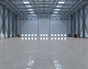 3D asset Airplane Hangar Interior 3