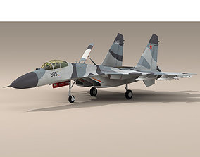 3D model Su-27 Flanker