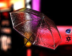 3D model Umbrella in Water Drops