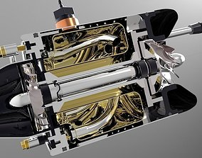 3D model 46mm Micro Jet Engine