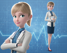 Cartoon Doctor Rigged 3D