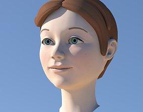 3D model Girl with Morphs