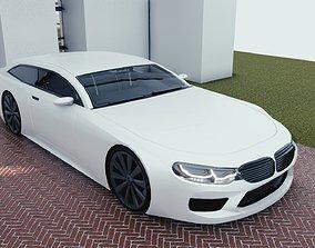 BLENDER EEVEE Brandless Sports GT shooting 3D asset