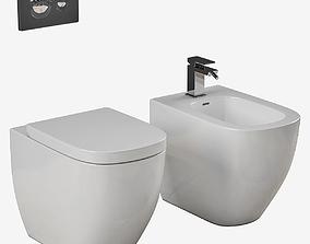 3D model Laufen PALOMBA bidet toilet Part 2