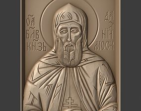 Orthodox Christian Icon of Saint Daniel of 3D print model