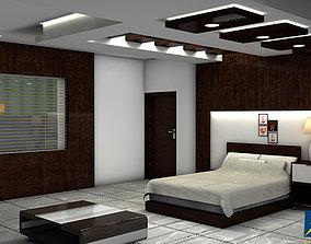 3D model low-poly Bedroom design
