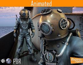 3D asset Character Diver