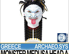 3D model Ancient Greek Monster Medusa Head A