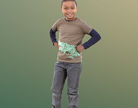 Zachary 10047 - Smiling Child 3D model