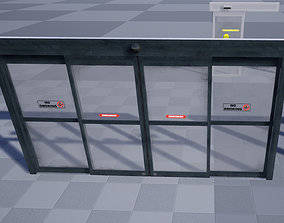 3D asset realtime Automatic Sliding Doors
