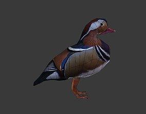 low-poly Mandarin duck 3d