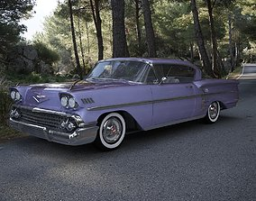 3D model Chevrolet Impala Sport Coupe 1958