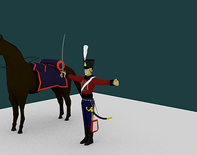 The Hussar of napoleon 3D asset