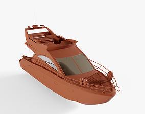 3D asset Express Cruiser Boat