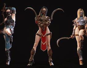 Demon Hanter 3D model rigged